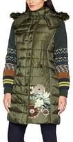 Desigual Women's Abrig_michelle Coat, Green (Kaki Oscuro 86)