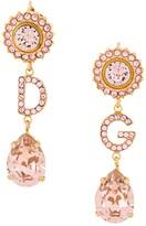 Dolce & Gabbana crystal-embellished initial pendant earrings