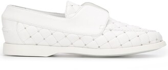 Le Silla Quilted Style Stud Detail Loafers
