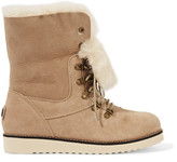 Australia Luxe Collective Yael shearling-lined suede ankle boots