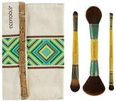 EcoTools Boho Luxe Duo Bamboo Make Up Brush Set With Recycled Aluminum Ferrules; The First Ever Double Sided Brush Collection; Artist Designed and Cruelty Free