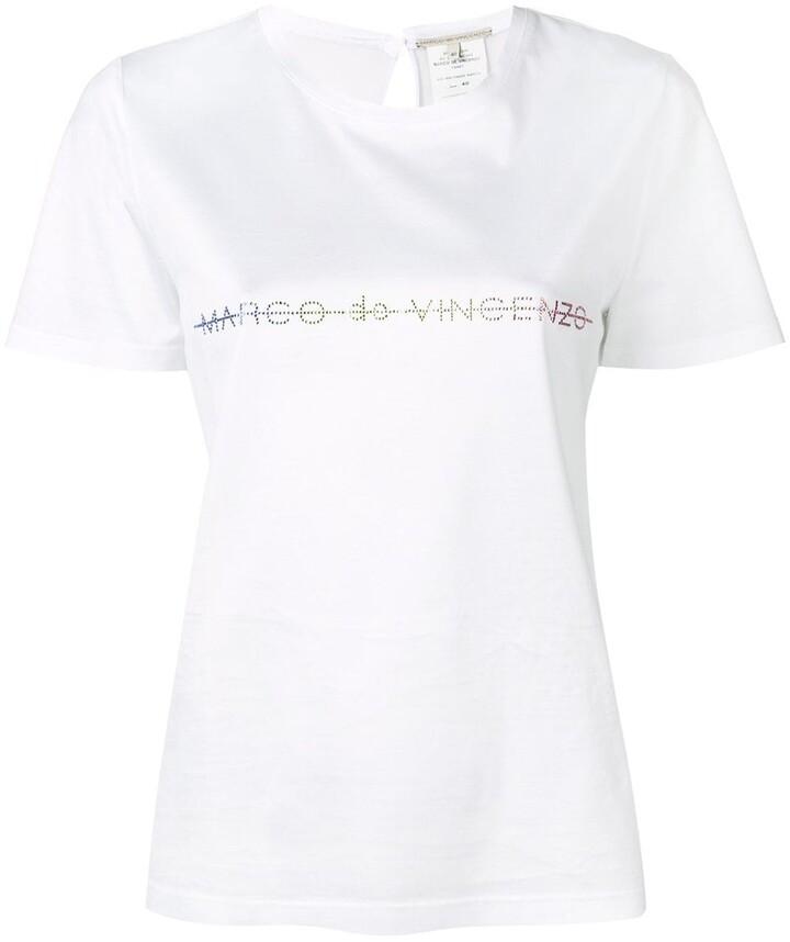Marco De Vincenzo embellished logo T-shirt