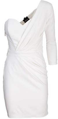Elisabetta Franchi white one-shoulder dress