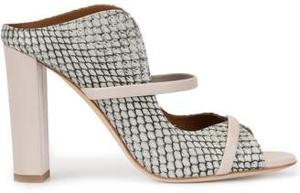Malone Souliers Norah snakeskin effect mules