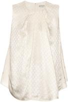 Balenciaga Floral-jacquard sleeveless top