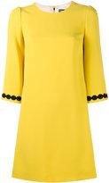 Dolce & Gabbana macrame lace trim dress - women - Viscose/Acetate/Cotton/Silk - 44