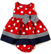 Bonnie Jean Bonnie Baby Baby Girls Newborn-24 Months Dotted Nautical Dress