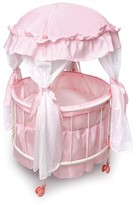 The Well Appointed House Child۪s Royal Pavilion Round Doll Crib with Canopy and Bedding