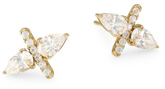 Adriana Orsini 18K Goldplated Sterling Silver Double Pear Stud Earrings