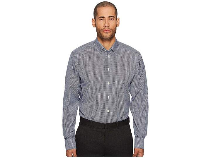 Eton Contemporary Fit Print Shirt Men's Clothing