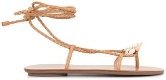 Loeffler Randall sea shell braided sandals