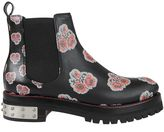 Alexander McQueen Poppy Print Ankle Boots