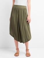Drapey midi skirt