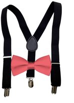 MXI Designs Black Suspender and Bow ties Set Combo in Kids Boys Toddler Baby Mens sizes