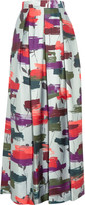 Raoul Printed silk-blend twill maxi skirt