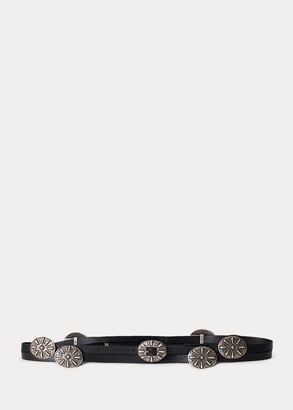 Ralph Lauren Concho Leather Wrap Belt
