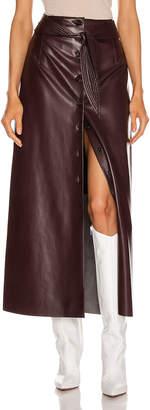 Nanushka Arfen Skirt in Aubergine   FWRD