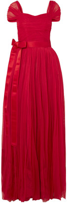 Dolce & Gabbana Belted Silk-tulle Gown