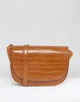 Glamorous Moc Croc Saddle Bag
