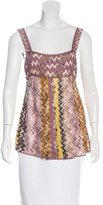 Missoni Chevron Pleated Top