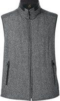 Corneliani reversible zipped vest