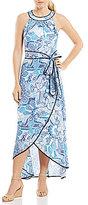 Jessica Howard Printed Hi-Low Maxi Dress