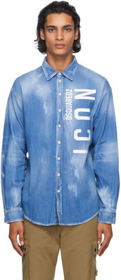 DSQUARED2 Blue Denim Icon Shirt
