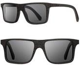 Shwood Women's 'Govy' 53Mm Sunglasses - Dark Walnut/ Grey