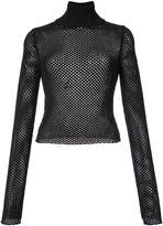 A.L.C. mesh turtle-neck sweater
