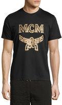 MCM Metallic Visetos Logo T-Shirt