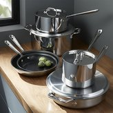 Crate & Barrel All-Clad ® Stainless Steel Non-Stick 10-Piece Cookware Set with Bonus