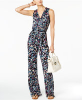 NY Collection Petite Surplice Jumpsuit