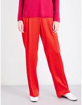 Stella McCartney Ladies Ultra Light Ciecly Straight Satin Trousers