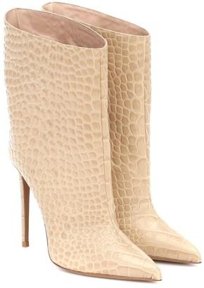 Alexandre Vauthier Alex Low croc-effect leather ankle boots