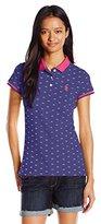 U.S. Polo Assn. Juniors' 3 Diamond Dot-Print Stretch Pique Polo Shirt