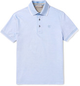 Canali Slim-fit Contrast-tipped Cotton-piqué Polo Shirt