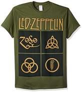 FEA Men's Led Zeppelin Black Box Symbols Mens T-Shirt
