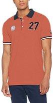 Lindbergh Men's Applicated Piqué S/S Polo Shirt,XXL