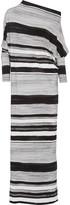 Norma Kamali All In One draped striped stretch-jersey maxi dress