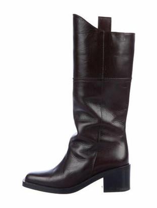 Chanel 2014 Interlocking CC Logo Riding Boots