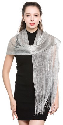World of Shawls Scarfs and Wraps for Evening Dresses - Sheer Bridal Women's Scarves for Prom Wedding