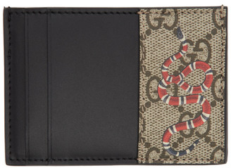 Gucci Beige GG Kingsnake Card Holder