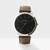 Paul Smith Men's Black And Brown 'Ma' Watch