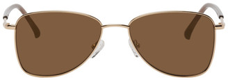 Dries Van Noten Gold Linda Farrow Edition 197 Aviator Sunglasses