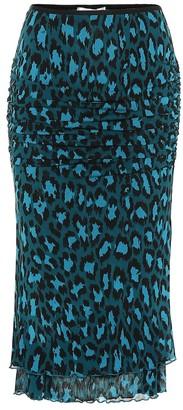 Diane von Furstenberg Elaine leopard-print midi skirt