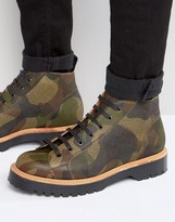 Asos Monkey Boot In Camo Leather Made in England