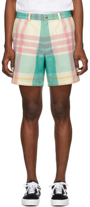 Noah NYC Multicolor Check Madras Shorts