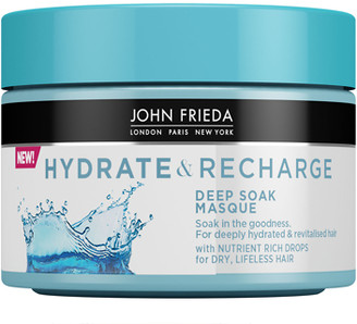 John Frieda Hydrate & Recharge Deep Soak Masque For Dry Lifeless Hair 250ml