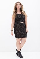 Forever 21 FOREVER 21+ Plus Size Floral Lace Pencil Skirt