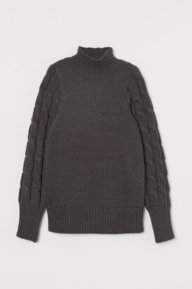 H&M MAMA Cable-knit jumper